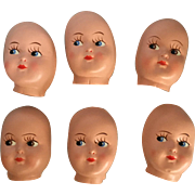 Plastic, Masked Faced Dollie Heads