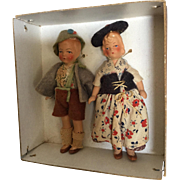 Miniature, painted Bisque, German Dolls