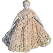 German, Blonde, China Head Doll