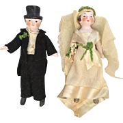 German, All Bisque Bride and Groom