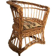 Victorian Wicker Doll Chair