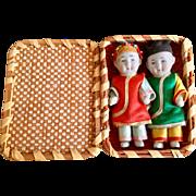 Miniature, Pair of Japanese, Bisque Children