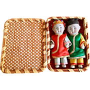 Miniature, Pair of Japanese, Bisque Children