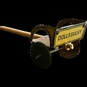 Tin, Miniature,Dollhouse Dollie Cart