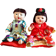 Pair of Japanese Dolls