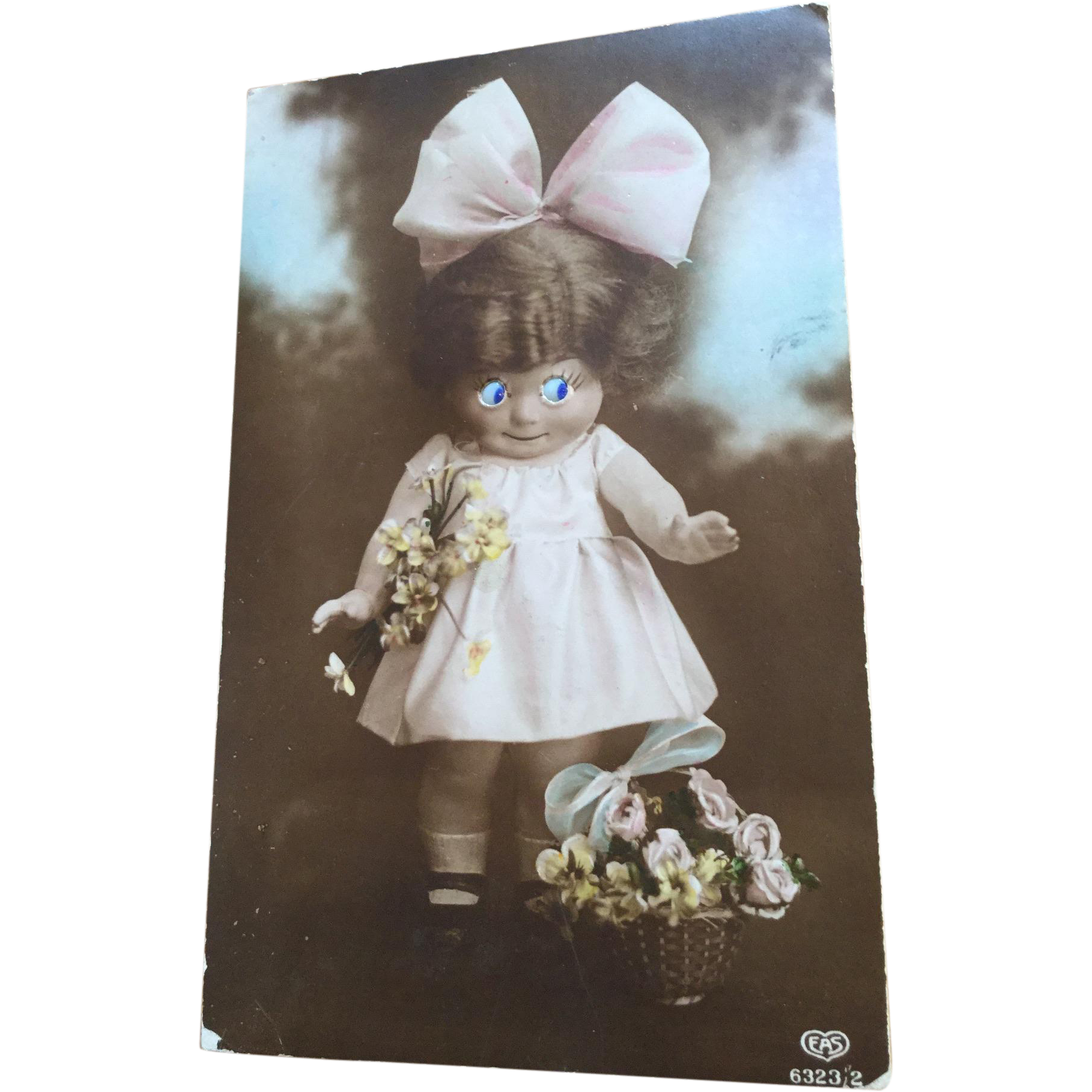 Googly Eyed Dollie Post Card
