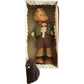 Original Clothing and Box for Goebel, Hummel Boy