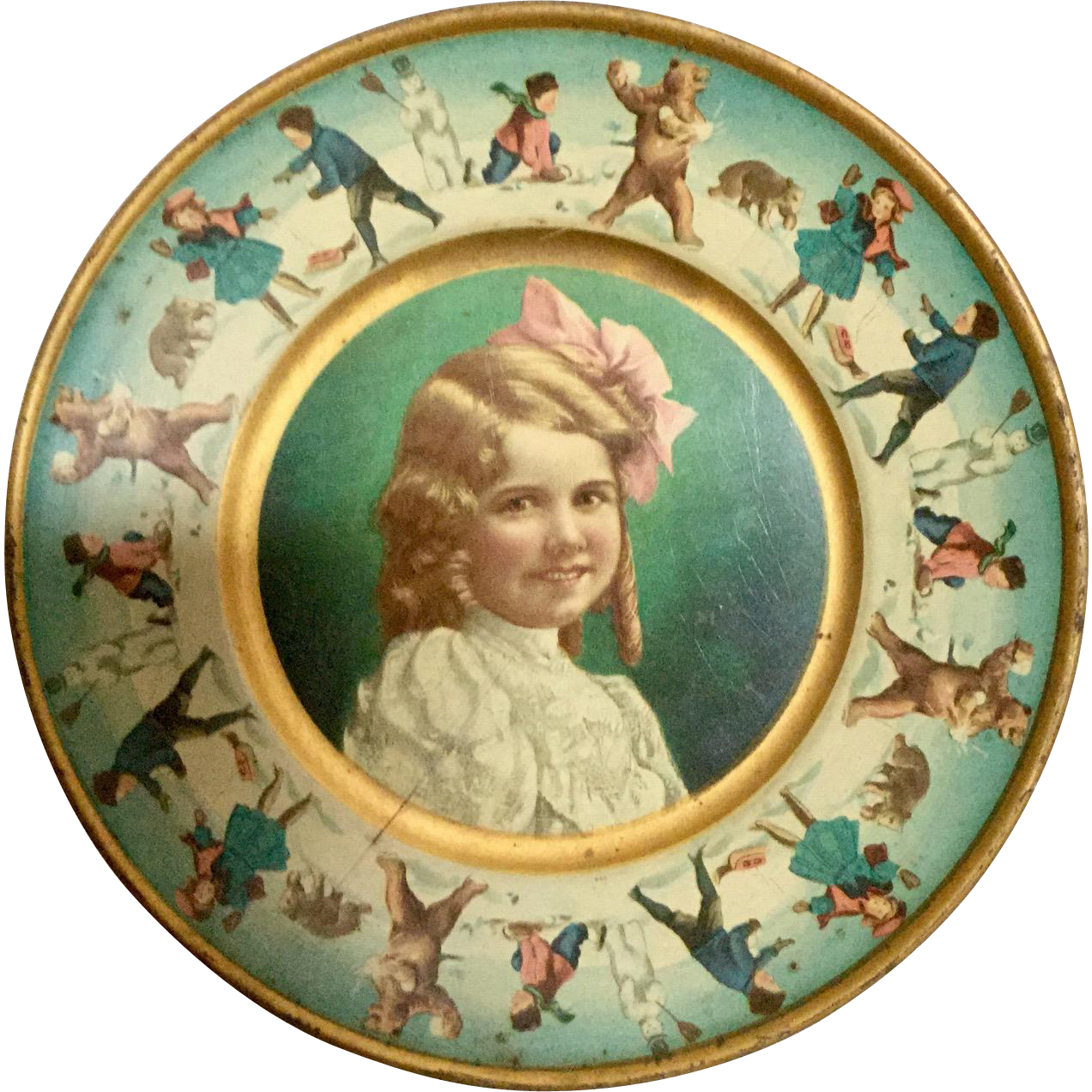 Tin Advertising Plate- A&P