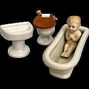 Japanese Porcelain Bath Room Set