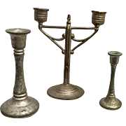 German, Dollhouse, Candelabra and Candle Sticks Art Deco