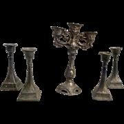 German Candelabra and Candle Sticks