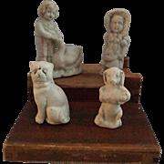 Miniature, German, Stone Bisque Figurines