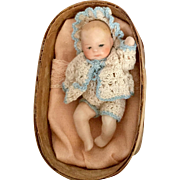 Artist, All Bisque Baby in Basket