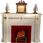Hard Plastic, Battery Operated Fireplace