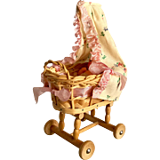 German Cradle and Baby