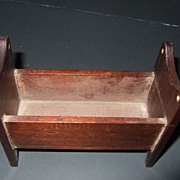 Vintage Miniature Dollhouse Wood Baby Bed