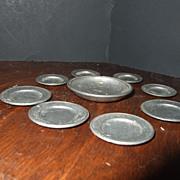 German Vintage Nickel Type Dishes