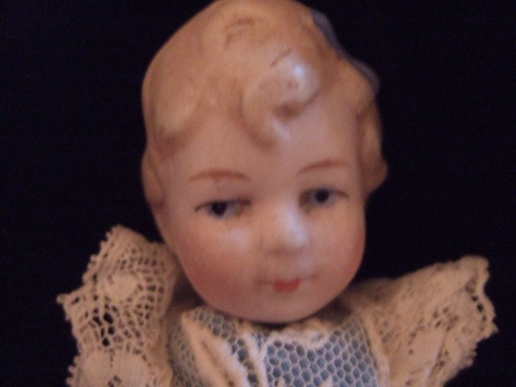 German Limbach All Bisque Miniature Doll