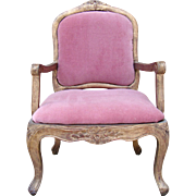 Very nice antique french fashion or cabinet size doll armchair.