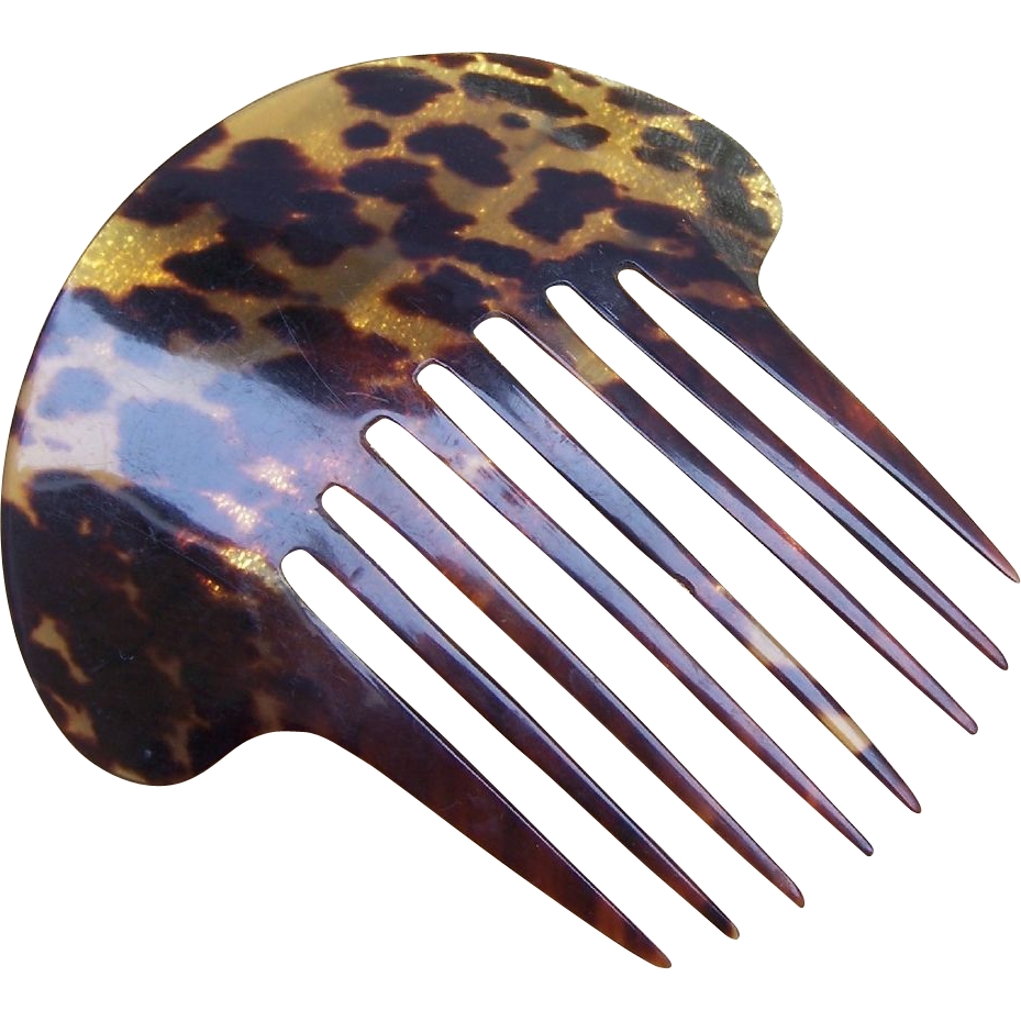 Antique Tortoiseshell Hair comb Early Victorian Beautifully Marked Hair Accessory