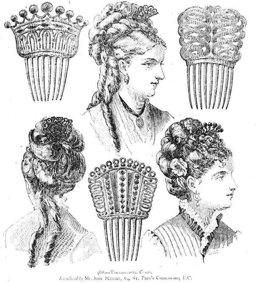 Vintage Hair Comb Victorian Openwork Hair Accessory (AAO