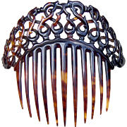 Victorian Faux Tortoiseshell Hair Comb Coronet Style Hair Accessory - Red Tag Sale Item