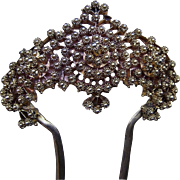 Unusual Gilded Metal Hair Comb Hair Accessory possibly Norwegian