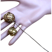 Early Victorian Hair Pin Algerian Style with Dangles Hair Accessory