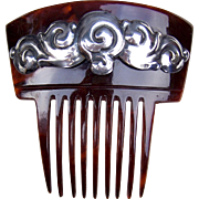 Skonvirke Hair Comb Art Nouveau Sterling Silver Hair Accessory
