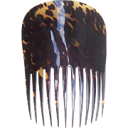 Antique Hair Comb Victorian Tortoiseshell Mantilla Style Hair Accessory
