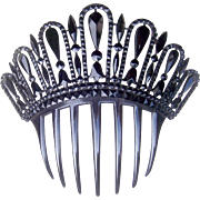 French Jet Hair Comb Victorian Mourning Spanish Mantilla Style Hair Accessory