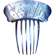 Sterling silver hair comb Dominick and Haff Spanish mantilla style hair accessory