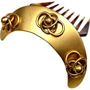 Mid Victorian Hair Comb Hinged Brass Hair Accessory