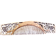 Burmese Hair Comb Hand Carved Fretted Vanity or Grooming Comb