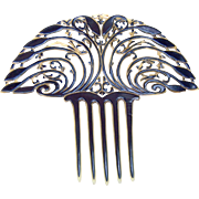 Art Deco Hair Comb Fan Shape Spanish Style Hair Accessory