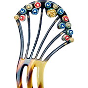 Art Deco Hair Comb Flower Decorated Spanish Style Hair Accessory