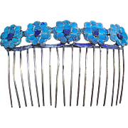 Chinese Kingfisher feather hair comb, hair accessory