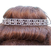 Victorian cut steel tiara, head band hair accessory bridal headpiece