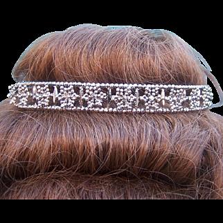 Victorian cut steel tiara, head band hair accessory bridal headpiece