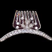 French Empire period hinged tiara hair comb hair accessory