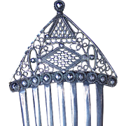 Georgian hair comb cut steel filigree hair accessory