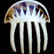 Art Deco parti color hair comb hair accessory
