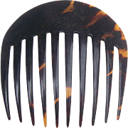 Victorian hair comb natural tortoiseshell hair accessory