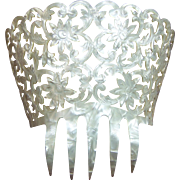 Spanish mantilla comb large mother of pearl effect hair accessory