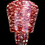 Oversized Spanish mantilla comb celluloid faux tortoiseshell hair accessory