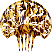 Spanish mantilla comb Art Deco faux tortoiseshell hair accessory