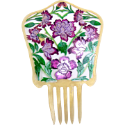 Spanish mantilla comb oversized hand painted hair accessory