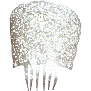 Spanish mantilla comb oversized mother of pearl effect hair accessory