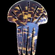 Victorian hair comb faux tortoiseshell Spanish mantilla hair accessory