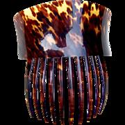 Victorian Spanish style hair comb faux tortoiseshell hair accessory (ADA)